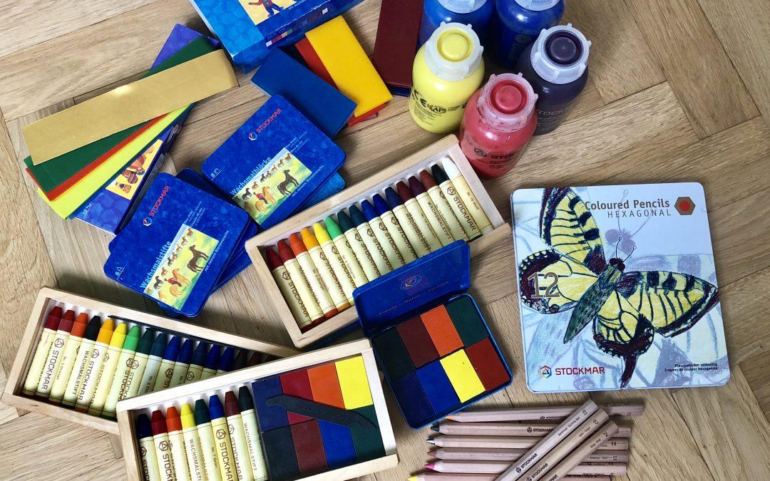 Stockmar kritor och akvarellfärger