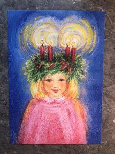 Julkort - Lucia