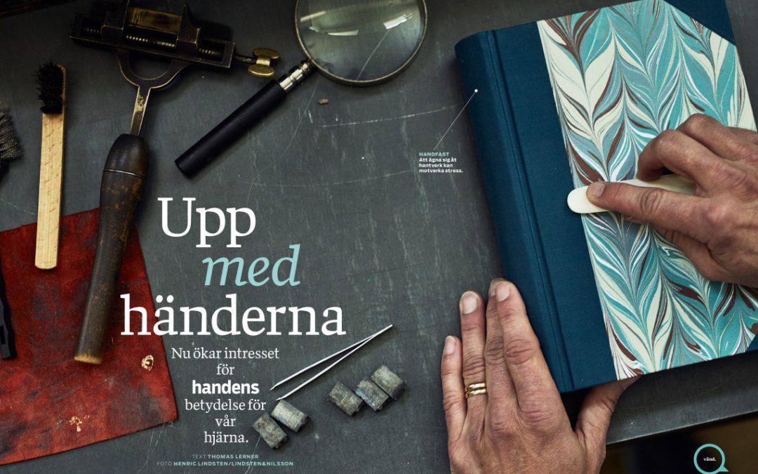 """""""Så formade handen hjärnans utveckling"""" Tidsskriften Modern Psykologi"""